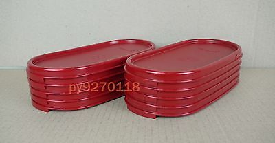 Tupperware Modular Mates Cranberry Oval Lids 10-pc + Free Shipping