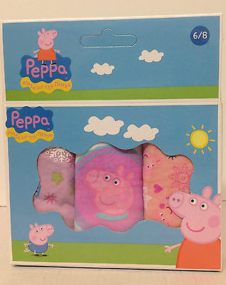 PEPPA PIG  3 Pack Briefs/knickers ALL SIZES GIRLS UK BARGAIN