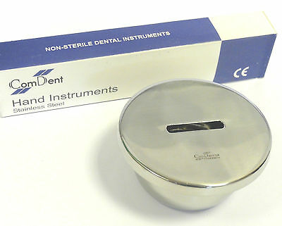 Dental Bur Bath Bur Cleaning  with Removable Inner Basket with Lid St Steel