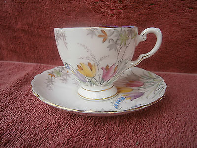 VINTAGE  PLANT  TUSCAN  CUP  AND  SAUCER   No. 4866N