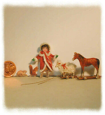 Miniature fabric panel kit, Victorian Doll & Toys Kit , designed by Jean Day