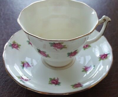 OLD Royal Bone China Roses Tea Cup and Saucer made in England