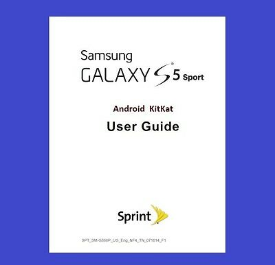 Samsung Galaxy S5 Sport User Guide for Sprint (model SM-G860P)