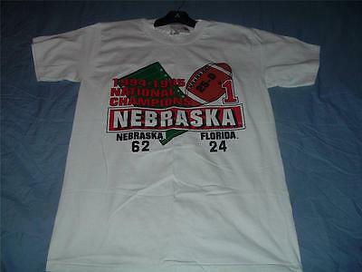 Nebraska Cornhuskers National Champions 1994-95 T-Shirt Adult Medium White NWT