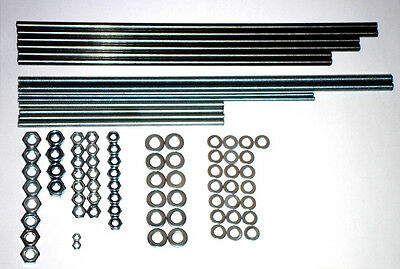 Steel Smooth Threaded Rods Nuts - Prusa i3 SINGLE Reprap 3D printer stainless