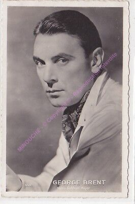 CPSM RPPC STAR GEORGE BRENT PHOTO GOLDWIN MAYER Edt CHANTAL 552