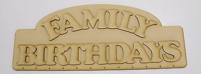 Wooden MDF Birthday Reminder Board Perpetual Craft Wood Event Calendar