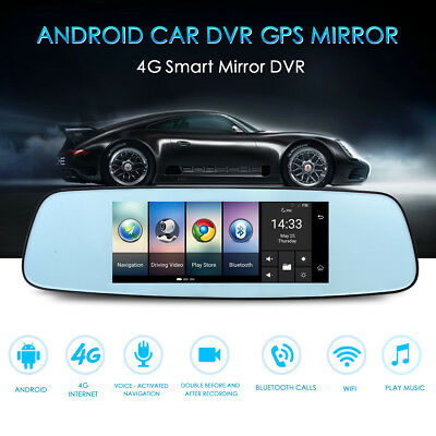 "Quad Core 5"" Android 4.0 Car Rearview Mirror GPS 1080P DVR +Wifi +Backup Camera"