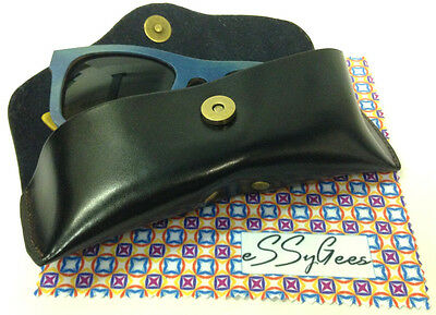 Leather GLASSES CASE! Soft genuine real leather for reading glasses sunglasses