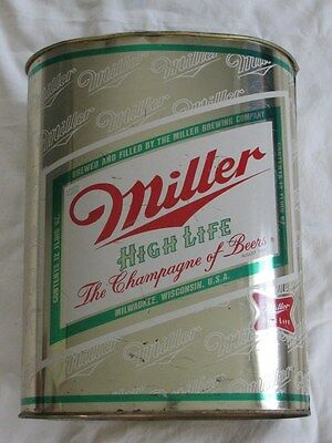 USED UNCOMMON VINTAGE 1970'S MILLER TRASH CAN WASTE CAN BUCKET