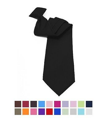 Boy's 8' Poly Solid Clip On Tie (BSCT4601)
