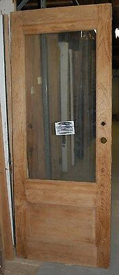 Nice Vintage Pine Plain Cottage Door, 2/3 Lite