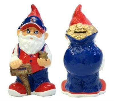 8132998515 Chicago Cubs Garden Gnome Coin Bank
