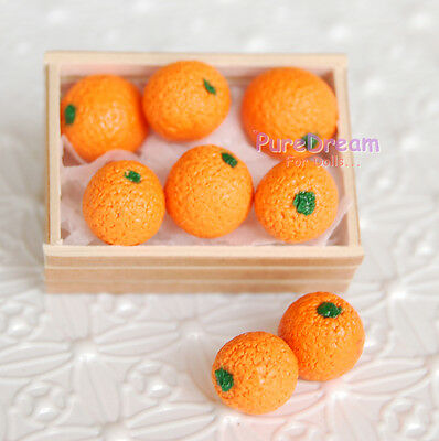 1/12 Dollhouse Miniature Fruit Orange 8 pcs  Wooden box not included  FF012*2