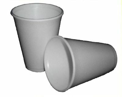 Polystyrene Insulated Disposable Foam Cups Takeaway Hot Drink Select Size & Qty