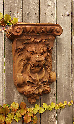 Vintage Lion Architectural Wall Plaque Garden Sculpture Art  Decor -Faux Stone