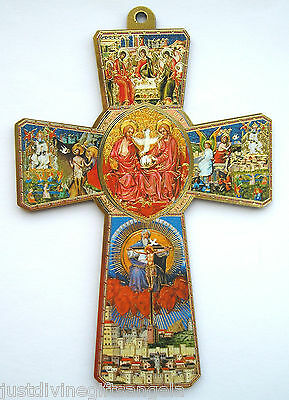 """Holy Spirit Wooden Cross 5 1/4"""" / 135mm  Religious Gift  Wood Crucifix"""