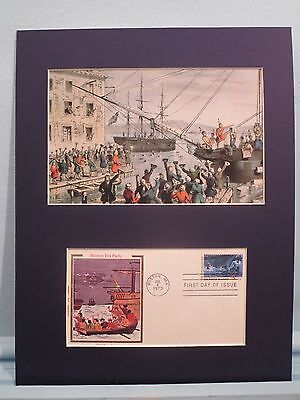 The Boston Tea Party & First day Cover of its 200th Anniversary of the event