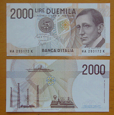 Italy Paper Money 2000 Lire 1990 UNC