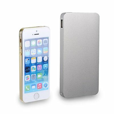 10000mAh Aluminum Dual USB Power Bank Battery Charger For iPhone4s 5s 5c 6 6Plus
