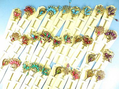 US Seller-wholesale lot 10 pcs victorian rhinestone crystal hairpin hair picks