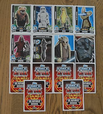 Force Attax Movie Card Serie 3 *alle 192 Basiskarten komplett* Star Wars Neu