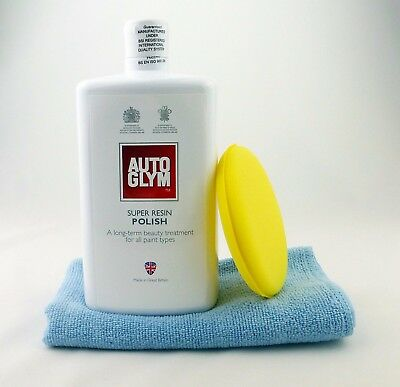 Autoglym Super Resin Polish 1 Litre 1000ml with Microfibre Cloth and Applicator