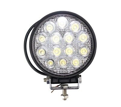 Faro Supplementare Slim Profondita' Auto Fuoristrada 12V Tondo 14 Led 48W Ip67