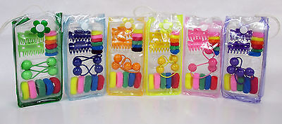 Wholesale Lot Of 12, 24 Kid Girl Hair Ponytail Holders Claws  W/ Bag---Ha2209A