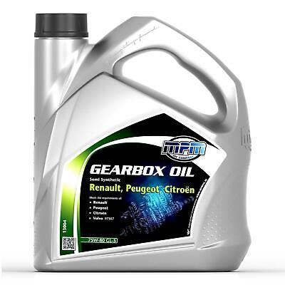 MPM Gearbox Oil 75W80 GL-5 Semi Synthetic RPC 4L Renault Citroen Peugeot