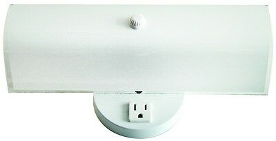 2 Bulb Bathroom Vanity Light Fixture Wall Mount with Plug-in Outlet, White