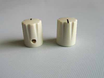 10pcs Ivory Guitar Scalloped Edge Davies 1900H Style AMP Knob Effect Pedal Knobs
