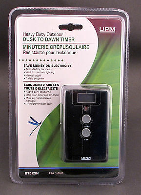 Outdoor Dusk to Dawn / Programmable Electronic Timer 1800W 1HP DT523H