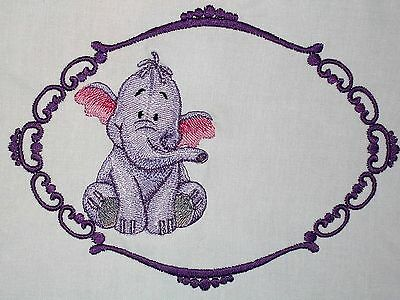 Heffalump Elephant Embroidered Quilt Label Custom made for quilt tops or blocks