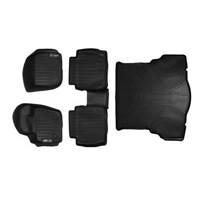 MAXFLOORMAT Floor Mats (2 Rows) and MAXTRAY Cargo Liner Set Black for 2013-2016