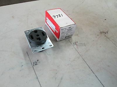 Pass & Seymour Flush Dryer Receptacle Cat #3864 30A 125/250V 3 P 4 W Lot 2 (NIB)