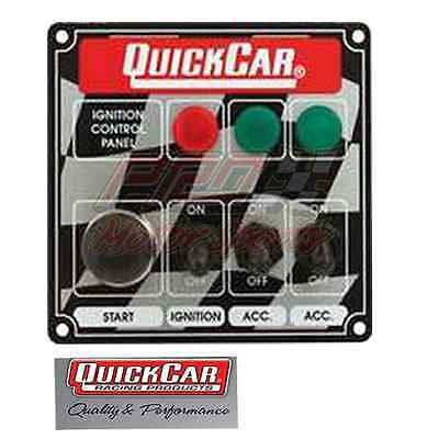 QuickCar Racing Ignition  Switch Panel 3 Toggles & Push Buttonw/ Lights 50-025