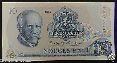 Norway Banknote 10 Kroner 1984 Almost Uncirculated