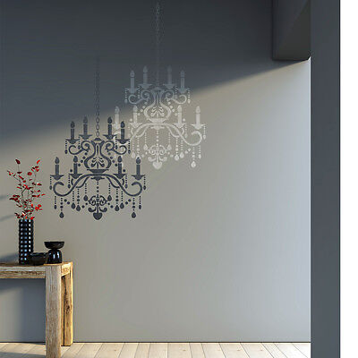 Wall Stencil Crystal Chandelier Template for DIY Decor - Better than decals