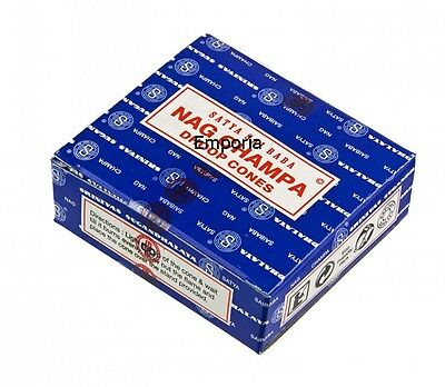 Satya Sai Baba Nag Champa Blue Incense Dhoop Cones Buy 2 Boxes get 1 Box Free!
