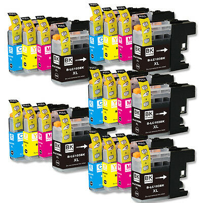 20 PK Ink Combo with chip use for Brother LC103 XL MFC J285DW J470DW J475DW