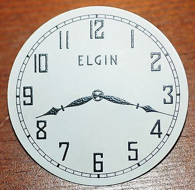 Vintage Antique pin ELGIN Clock Watch face Promotional Item - EXCELLENT