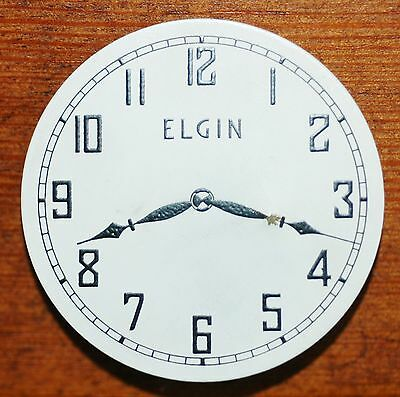 Vintage Antique pin ELGIN Clock Watch face Promotional Item - VERY GOOD