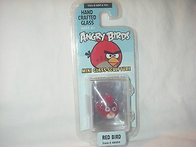 Angry Birds Limited Edition Mini Glass Sculpture Red Bird New In Package
