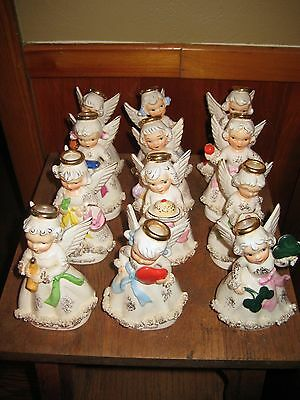 12 Vintage Ucagco Angels Lefton Style Figures-One for each month