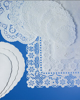 "250 xRound Doyleys White Paper Covers 10.5""/27cm Tray Doilies Saucer Restaurant"