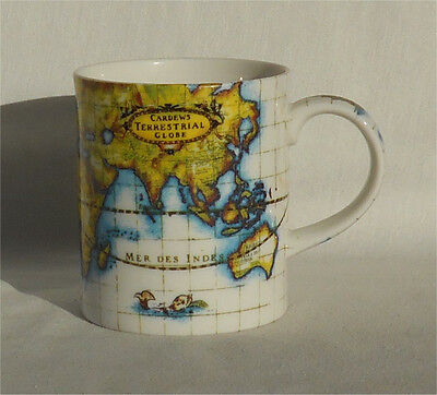 Paul Cardew Terrestrial Globe World Map Coffee Mug