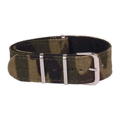 18mm 20mm 22mm Nato Camouflage Belts  Army Watchband Nylon Military Watch Strap
