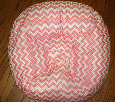 Handmade Gray Pink Cream Chevron Cover Fits Boppy Newborn Lounger