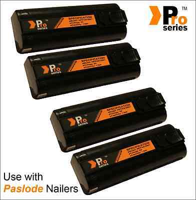 4 x replacement batteries 6v 1.5ah (pro-series) for paslode im350/350+/65/65A/25